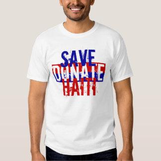 SAVE HAITI DONATE T SHIRT