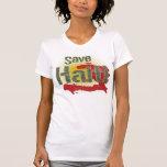 Save Haiti (Green) - Proceeds go to RED CROSS Tee Shirts