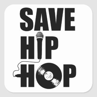 Save Hip-Hop Rectangular Stickers