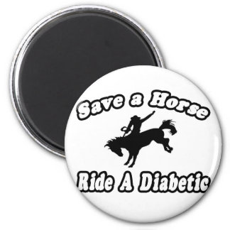 Save Horse, Ride a Diabetic Refrigerator Magnet