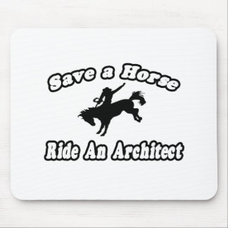 Save Horse, Ride Architect Mouse Pad