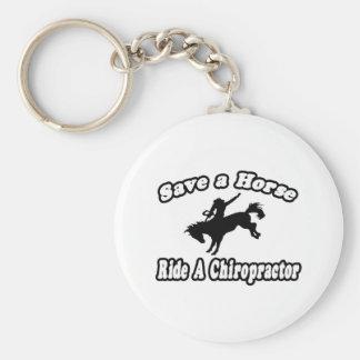 Save Horse, Ride Chiropractor Keychain