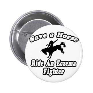 Save Horse, Ride Eczema Fighter Buttons