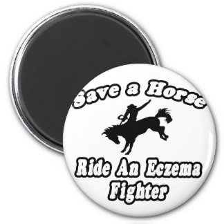 Save Horse, Ride Eczema Fighter Fridge Magnets