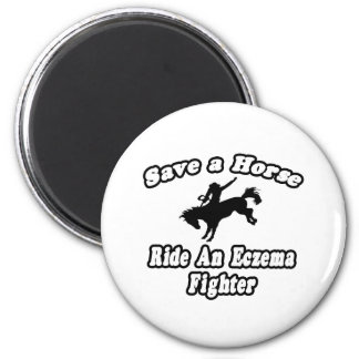 Save Horse, Ride Eczema Fighter Magnet