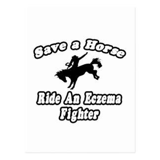 Save Horse, Ride Eczema Fighter Postcard
