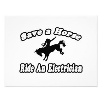 Save Horse, Ride Electrician Invitations