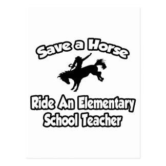 Save Horse, Ride Elementary School Teacher Postcards