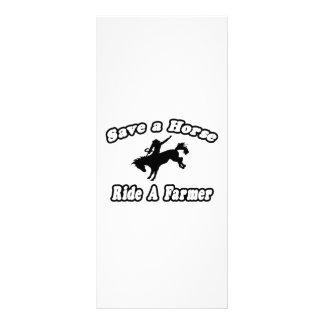 Save Horse Ride Farmer Rack Card Template