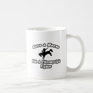 Save Horse, Ride Fibromyalgia Fighter Coffee Mugs
