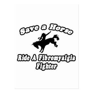 Save Horse, Ride Fibromyalgia Fighter Postcard