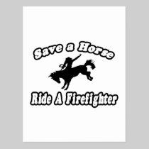 Save Horse, Ride Firefighter Postcard