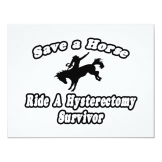 Save Horse, Ride Hysterectomy Survivor Custom Invitations