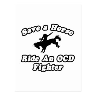 Save Horse, Ride OCD Fighter Postcard