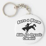 Save Horse, Ride Organic Chemist Keychains