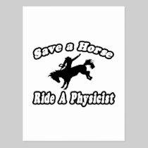 Save Horse, Ride Physicist Postcard