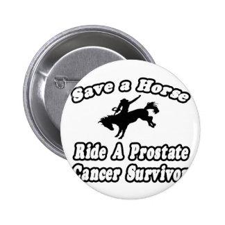 Save Horse, Ride Prostate Cancer Survivor 2 Inch Round Button