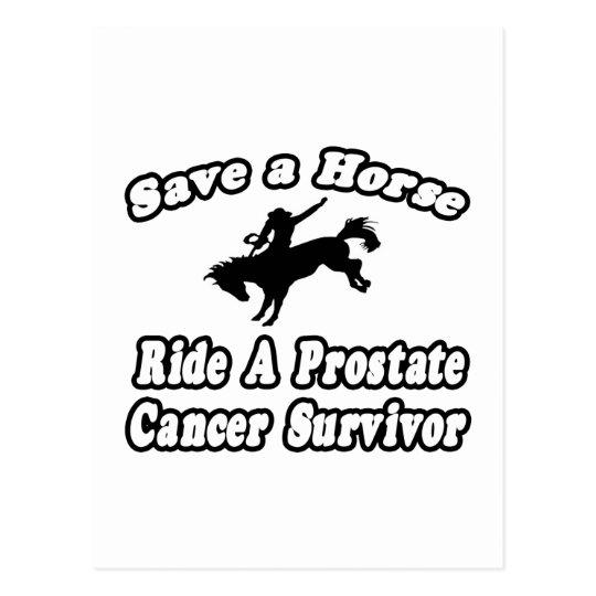 Save Horse, Ride Prostate Cancer Survivor Postcard