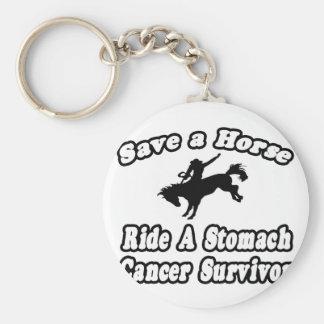 Save Horse, Ride Stomach Cancer Survivor Keychains