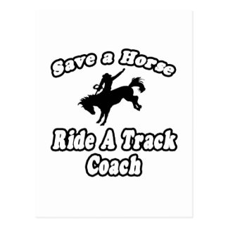 Save Horse Ride Track Coach Post Cards