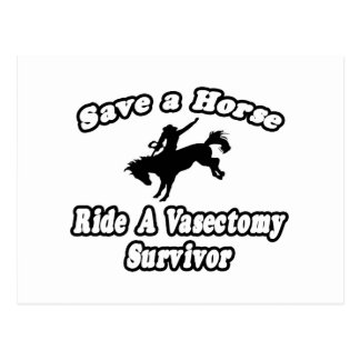 Save Horse, Ride Vasectomy Survivor Postcard