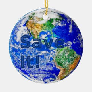 Save It! Earth Ornament