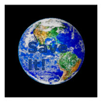 Save It! - Environmental Awareness Poster