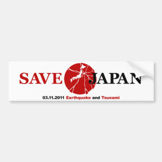 Save Japan Bumper Sticker