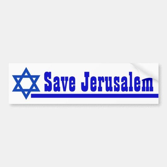 Save Jerusalem Bumper Sticker