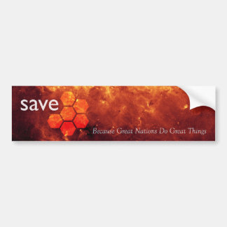 Save JWST: Great Nations Do Great Things Car Bumper Sticker