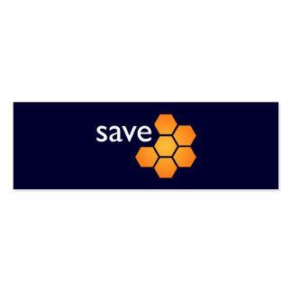 Save JWST on blue Double-Sided Mini Business Cards (Pack Of 20)