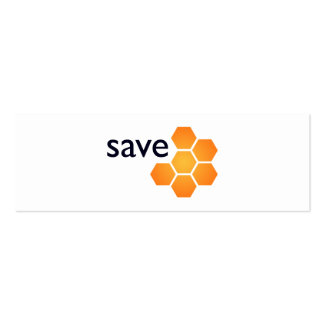 Save JWST on white Business Card Template