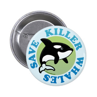 Save Killer Whales Pinback Buttons
