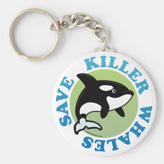 Save Killer Whales Keychain