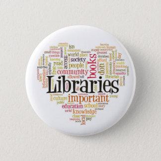 Save Libraries 1 Pinback Button