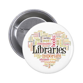 Save Libraries 1 Pinback Button
