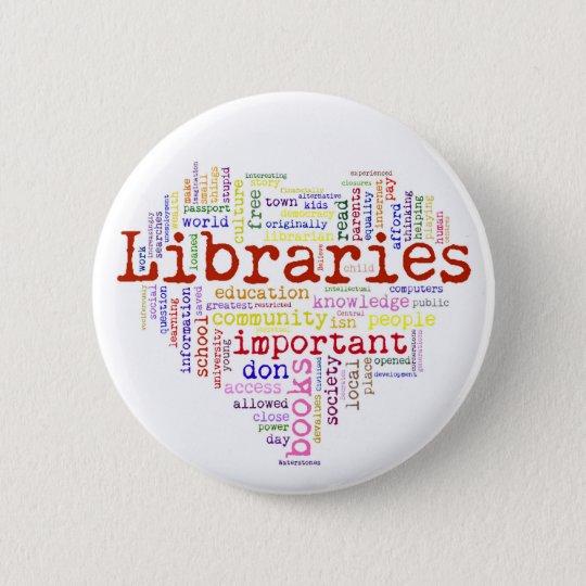 Save libraries 3 pinback button