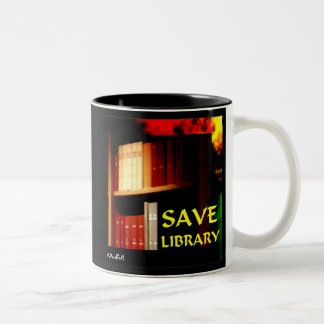 Save Library 1 Two-Tone Coffee Mug