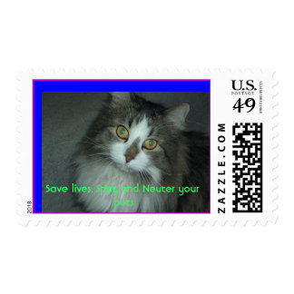 Save lives. Spay and Neuter yo... Stamp
