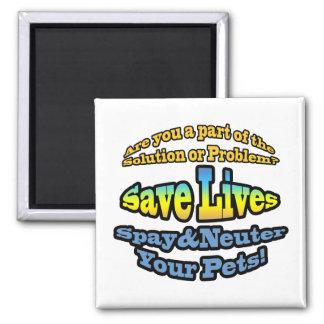 Save Lives Spay & Neuter Your Pets! Magnet