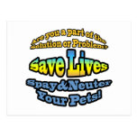 Save Lives Spay & Neuter Your Pets! Postcard