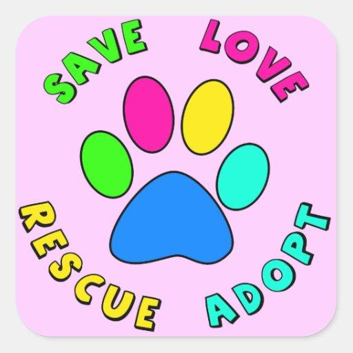 Save Love Rescue Adopt Sticker