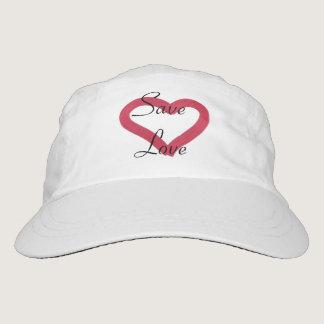 save love. text. heart. headsweats hat