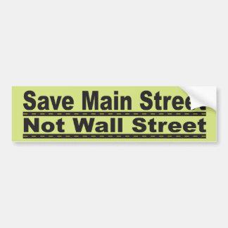 Save Main Street Bumper Sticker Car Bumper Sticker