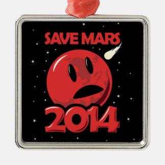 Save Mars 2014! Metal Ornament