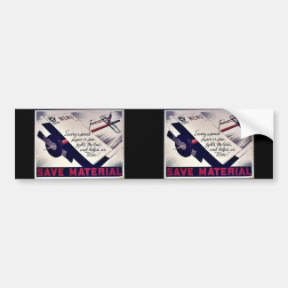 Save Material Bumper Stickers