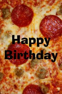 Save Me A Pizza Cake Birthday Card