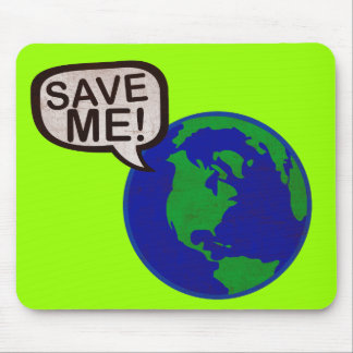 Save Me - Earth Mouse Pad