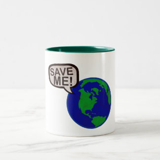 Save Me - Earth Two-Tone Coffee Mug
