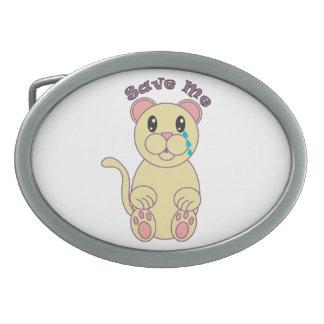 Save Me (Florida Panther) Belt Buckle